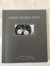 A. Lange & sohne large double split watch manual