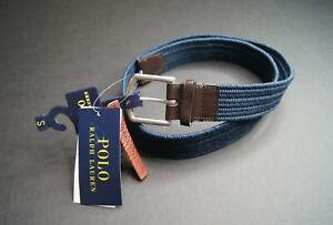 POLO RALPH LAUREN Men's Navy Blue Braided Stretch Belt NEW NWT $75