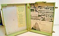 Vintage Alcoa Aluminum Siding Salesman Sample Case