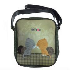 PEU MEOW petit sac à bandoulière réglable rectangulaire beige tissu e eco-cuir