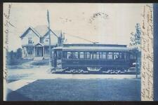 REAL PHOTO POSTCARD MASSILLON OH/OHIO FAMILY HOMES/HOUSES WITH TROLLEY #104 1906