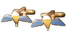 Parachute Qualification Wings Regimental Military Cufflinks