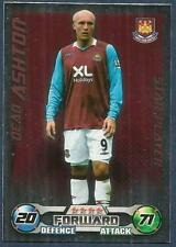 TOPPS MATCH ATTAX 2008-09-WEST HAM UNITED-STAR PLAYER-DEAN ASHTON-SILVER FOIL