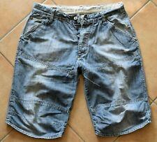 G-Star Jeans Short Elwood Embro 1/2  Kurze Denim Hose Usedlook Vintage  M Medium