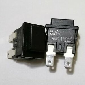 1/5PCS NOVA KAN-L6 Power On Off Switch Pushbutton 2 Pin 16/8A 125/250VAC