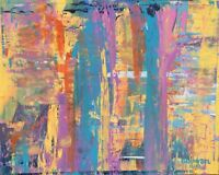 NEW Modern ABSTRACT Original Art PAINTING Artist DAN BYL Contemporary Huge 4x5'