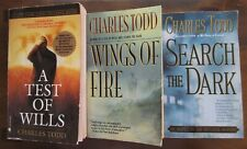 Lot (3) CHARLES TODD Mystery ~ A Test of Wills, Wings of Fire, Search the Dark
