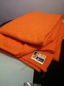 Vintage Bright Orange Blanket Throw Wool Koala By Moderna