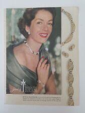 1953 trifari Royal Ransom necklace jewelry Jinx Falkenburg McCrary ad