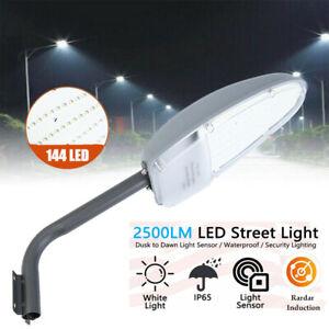 LED Straßenlaterne Hofbeleuchtung Gartenlampe mit Bewegungsmelder Lichtsensor24W