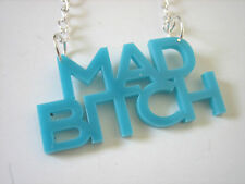 MAD BITCH RUDE WORD NAME NECKLACE