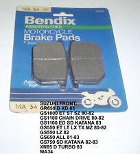 SUZUKI GS1000 1100 550 650 BENDIX DISC BRAKE PADS MA34