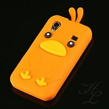 Samsung Galaxy Ace s5830i s5839i silicona, funda protectora, funda, protección Chicken cover Orange