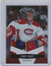 10-11 2010-11 CERTIFIED CAREY PRICE PLATINUM RED /999 #75 MONTREAL CANADIENS