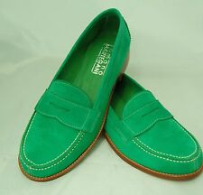 WOMAN - PENNY MOC - 37 - GREEN SUEDE + TONE ON TONE LINING - LEATHER SOLE/BLAKE
