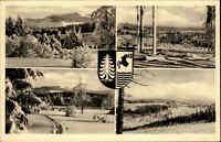 OBERHOF Thüringen DDR 4 Ansichten s/w Mehrbildkarte AK Winter Ansichten ~1956