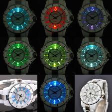 Neuve 8 LED Quartz Blanc Aiguilles Sport Femme Bracelet Pile Luxe Montre K53