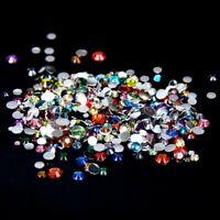 wholesale 50000p resin non hotfix 3d nail art rhinestones gems flatback beads