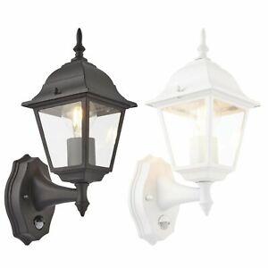 PIR Motion Sensor Outdoor Security Wall Light 4 Sided Garden Lantern