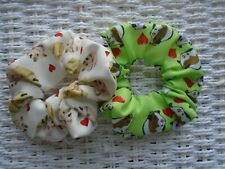 Special Price* Pack of 2 Hair Scrunchies Hamster Guinea Pig Scrunchy Tie Band