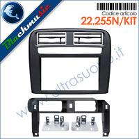 Kit mascherina montaggio autoradio 2DIN Fiat Grande Punto (199 dal 2005) nero