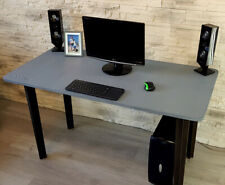 Gaming Desk Computer Desk PC Table Black Grey White CUSTOMISE 4 Top Shapes