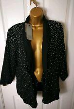 New Firetrap Womens Ladies Blazer Size 14 Black Top Jacket Long Sleeve RRP110 AH