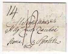 1808 - PREFILATELICA NAPOLEONICA 87GENES - DA GENOVA PER SPOLETO