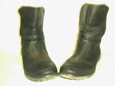 WOMENS THE NORTH FACE BALLARD  LEATHER SNAP BOOTS SIZE 11