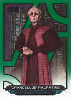 2018 Topps Star Wars Galactic Files Green ACW-31 Chancellor Palpatine 093/199