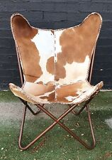 *BRAND NEW* BUTTERFLY CHAIR GENUINE LEATHER SPOTTY HAIRY HIDE