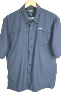 SIMMS Guide Series Mens sz Large SS Vented Grey Fishing Button Up Shirt