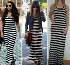 Petite Striped Sleeveless Maxi Dresses for Women
