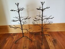 """(2) CHRISTMAS METAL IRON ORNAMENT DISPLAY STANDS TREES  24"""""""