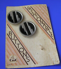 Vintage Buttons Art Deco 1933 On Card Le Chic Matched Set Of 2