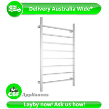 Square 8 Rung Bathroom Towel Ladder 1150mm x 700mm Stainless Steel Non Heated