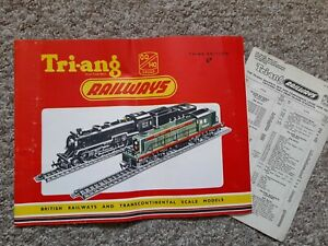 `Tri-ang OO/HO Gauge Railways 3rd Edition Catalogue 1957 With price list. VGC.