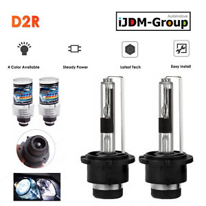 2 X 35W D2R HID XENON HEAD LIGHT BULBS FOR STOCK HID 43K 6K 8K 10K LOW BEAM  A