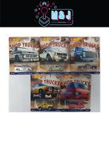 Hot Wheels Shop Trucks Set 1-5 Chevy,VW,Ford And Subaru (Aussie Seller)