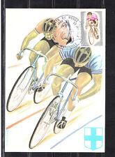 carte  1er jour  championnats du monde de cyclisme  Marseille    1972
