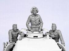 Kit de modelo de resina de 1:35 Segunda Guerra Mundial Alemania Tanque Tripulación Verano 1941-45 figuras (3)
