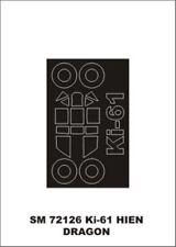 Montex Mini Mask 1:72 Ki-61 Hien for Dragon Kit Spraying Stencil #SM72126