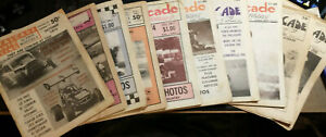 Lot of 8 Cavalcade of Auto Racing Action Monthly - 73-74 and 2 1975 Weekly news