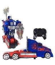 USA SELLER OPTIMUS PRIME Transformer RC Remote Control Deformation Robot Car