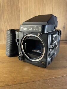 Fast Neu : Lesen Mamiya 645 Super Film Kamera W / AE Finder & 120 Hintere / JP