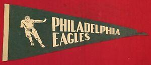 Vintage 1940's Philadelphia Eagles Running back Football Pennant Antique Early