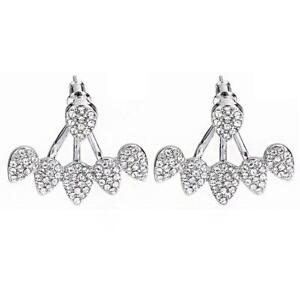 Women Laidies Flower Earrings Drops Studs Earrings Jewelry Gift Supply T