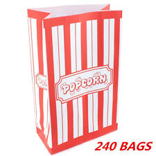 10pk Popcorn Movie Night Carnival Circus Party Supplies Paper Bags (pack of 10)
