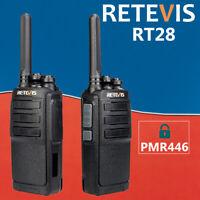 2XRetevis RT28 Walkie Talkie Two way radio PMR446 USB charging long range VOX