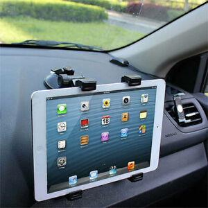 """360° Universal Car Windshield Holder Desktop Mount for 7""""-10.5"""" Tablet iPad GPS"""